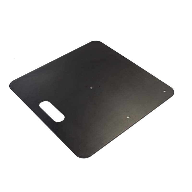 "18"" x 18"" Base Plate Black 12.5KG Heavy Duty Image"