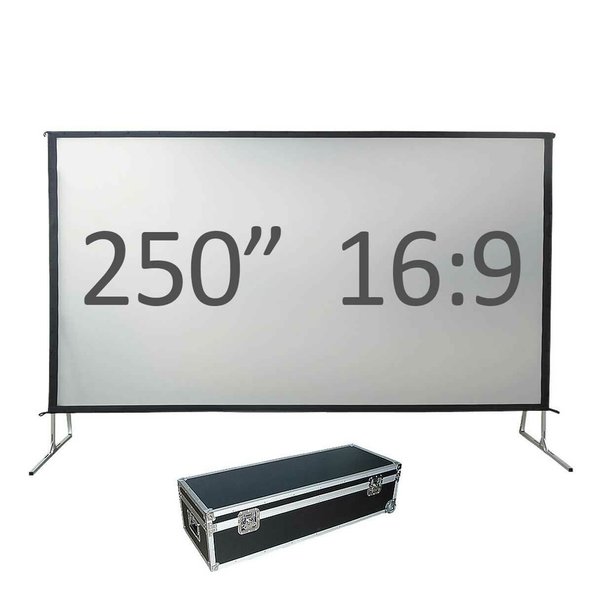 550cm x 310cm Fastfold screen 16:9 ratio - Front and Rear Image